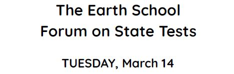 Earth School Forum State Tests 2017_1