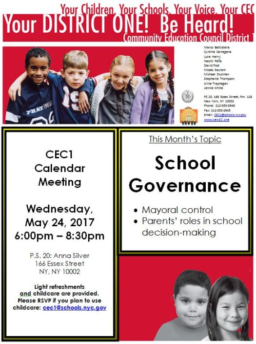 CEC1 Flyer 5.24.17 School Governance